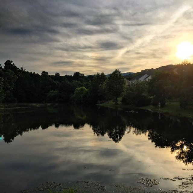 Sunset the other night over the pond sunset sunsetlovers sunsetskyhellip