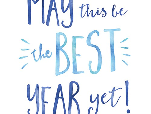 May this be the best year yet!