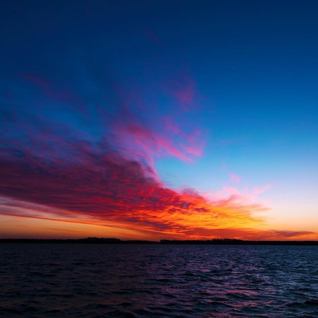 Sunrise over the Pungo River this morning belhaven northcarolina belhavennchellip