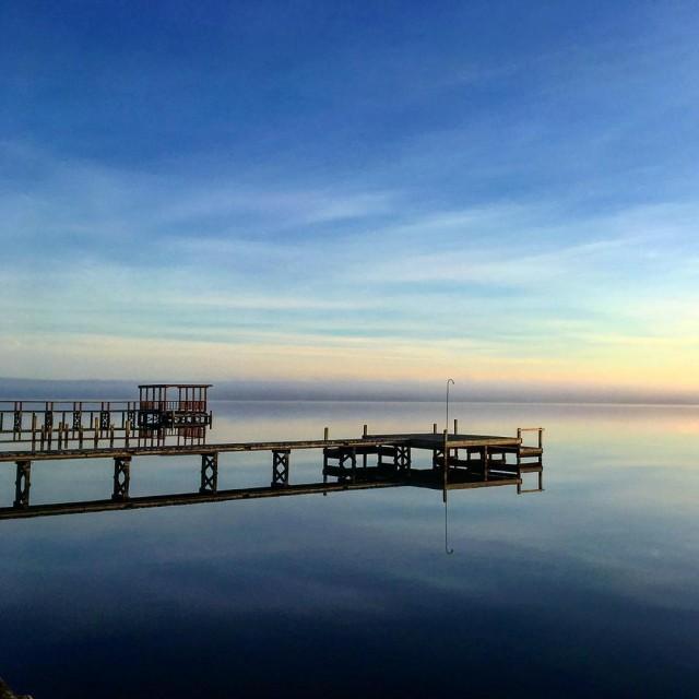 The other morning sunrise riverlife pier water blue blueskies belhavenhellip